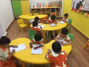 exam at uc kindies international preschool