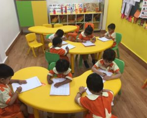 exam at uc kindies international preschool