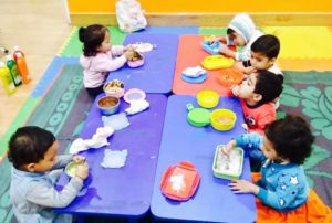 lunch time at UC Kindies