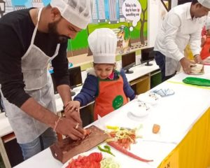 fireless cooking event at UC Kindies
