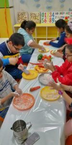 Cooking competition at UC Kindies